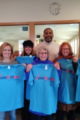 Souls to the Polls volunteers with VoteRiders t-shirts
