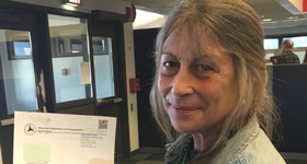 Debra with voter ID