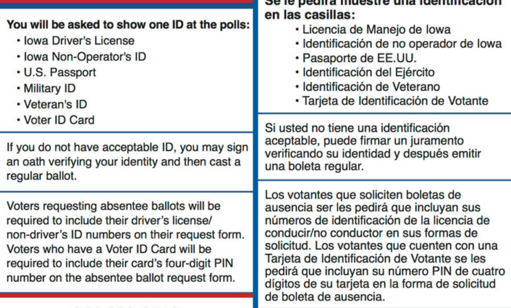 VoteRiders' New Resources on Voter ID in Iowa