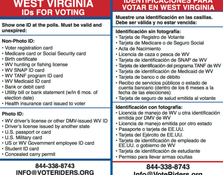 VoteRiders' New Resources on Voter ID in West Virginia