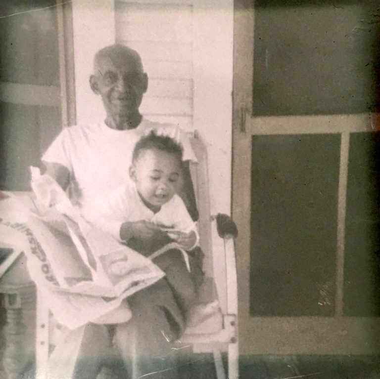Yvonne with great-grandfather