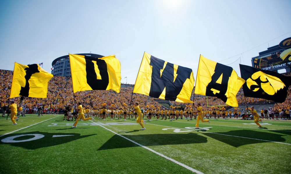 Iowa players enter field