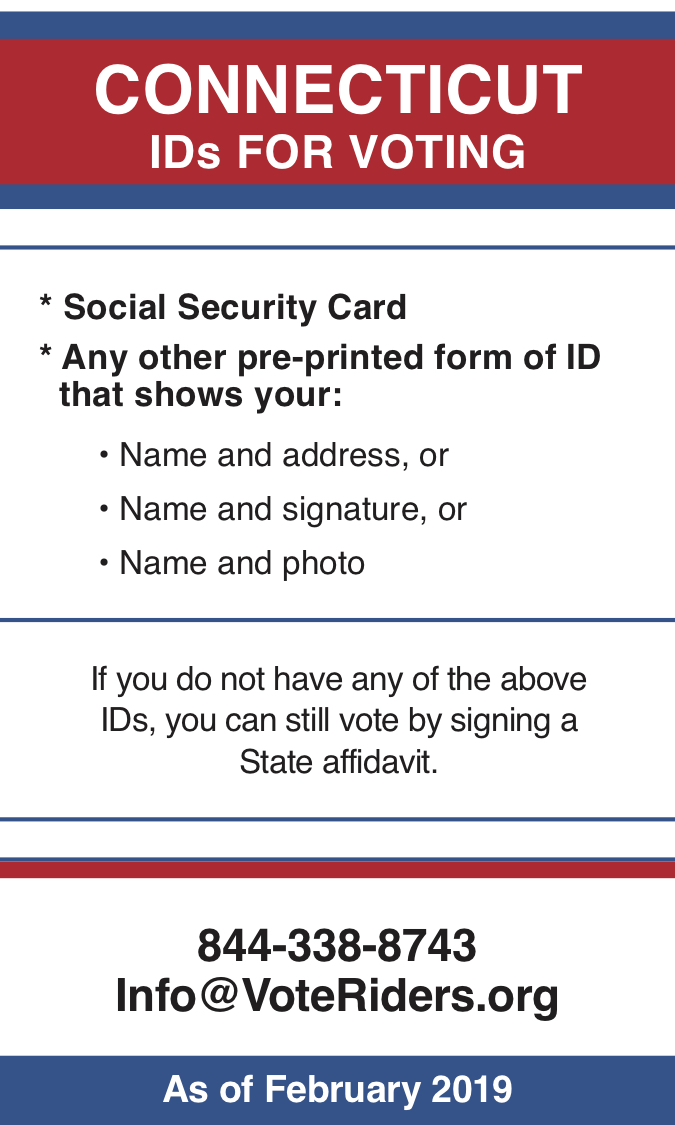 CT Voter ID Info wallet card