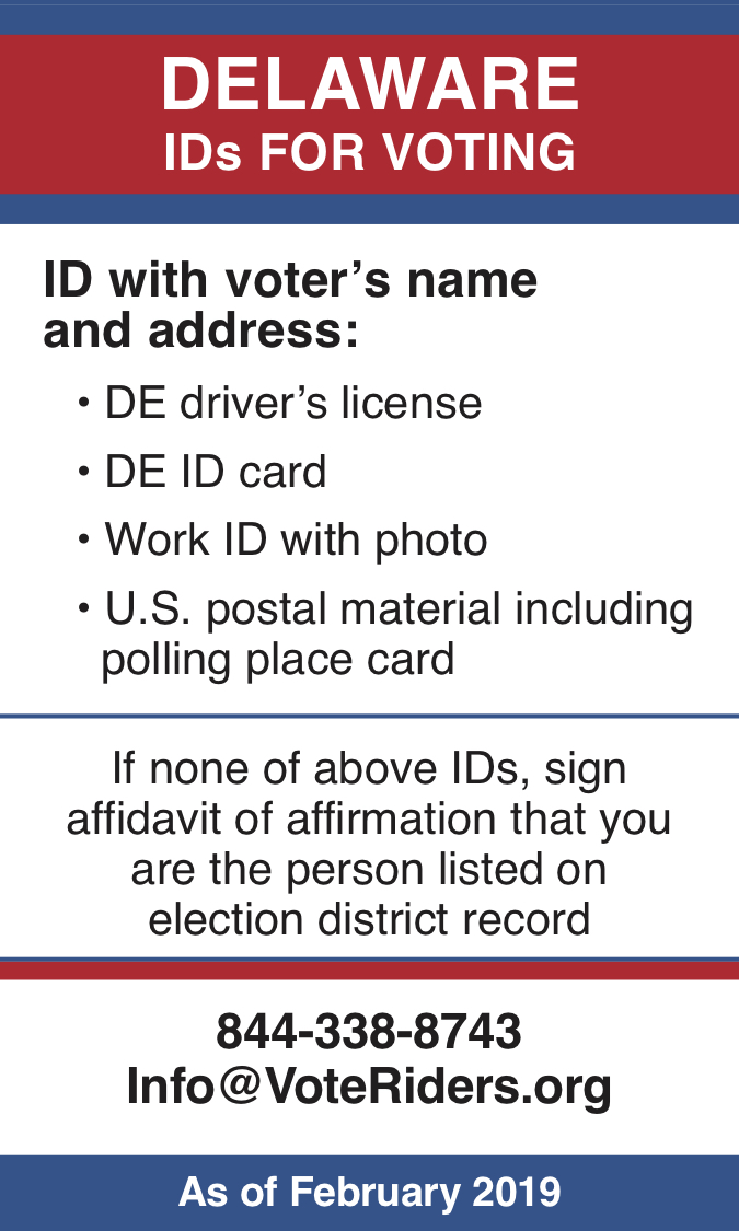 DE Voter ID Info wallet card