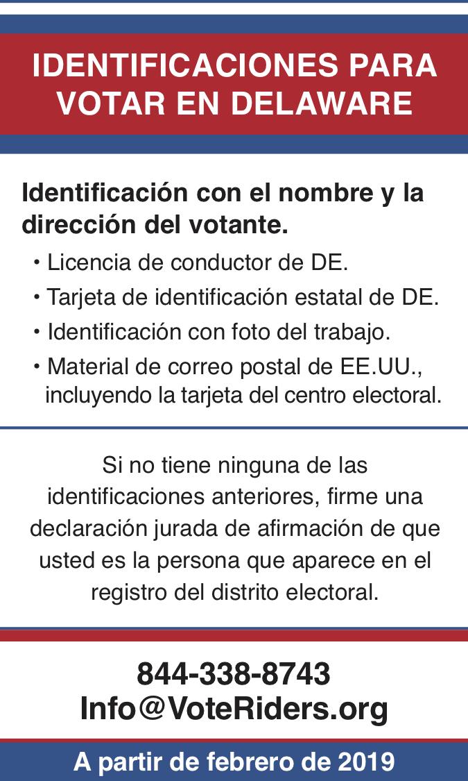 ID para votar en Delaware