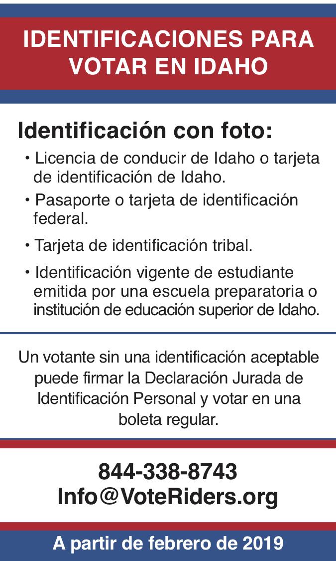 ID para votar en Idaho