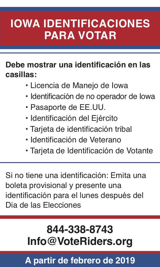 ID para votar en Iowa