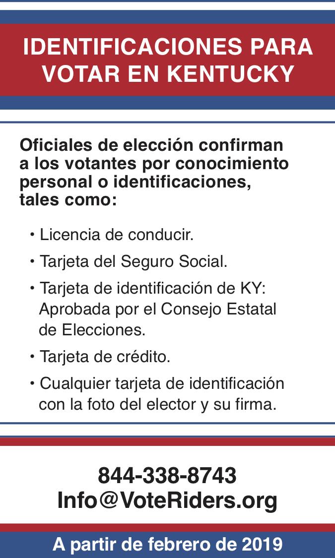 ID para votar en Kentucky