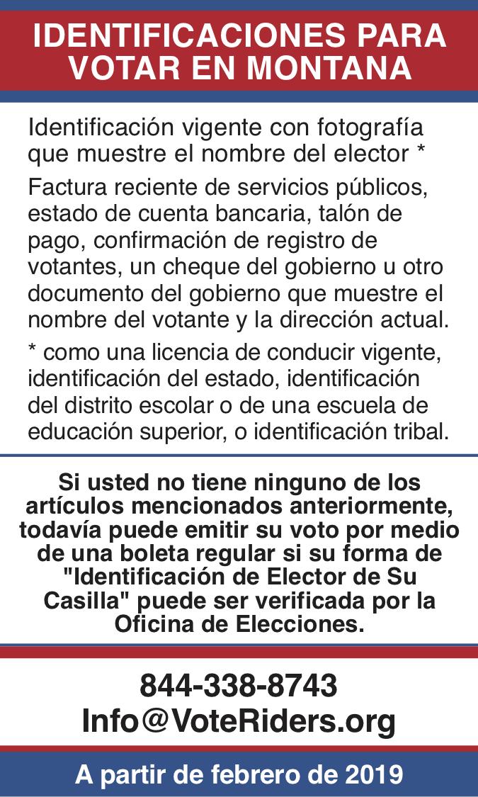 ID para votar en Montana