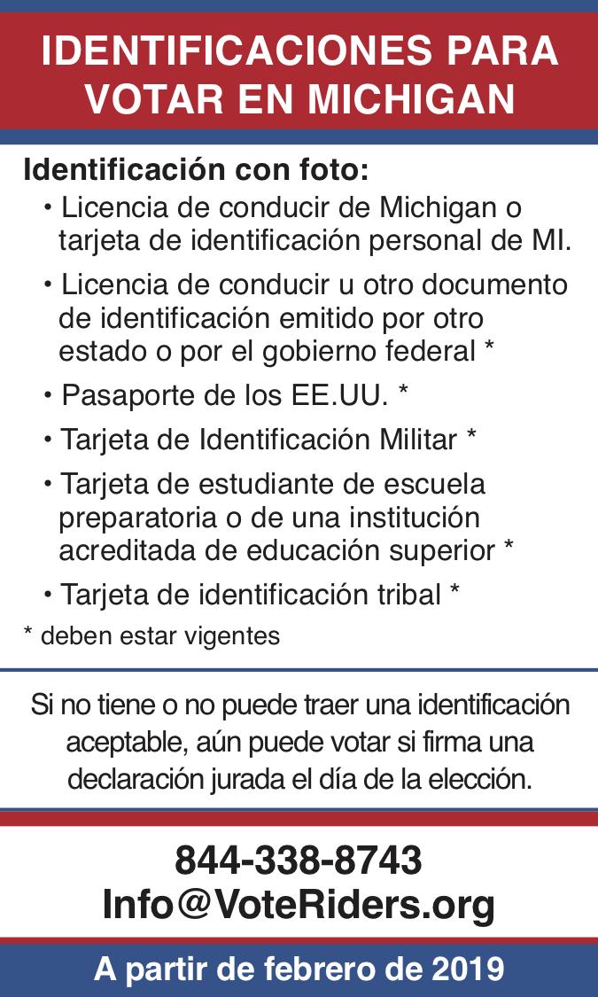 ID para votar en Michigan