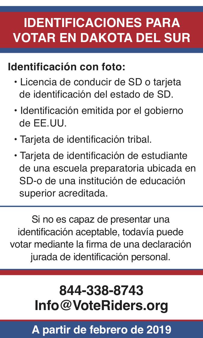 ID para votar en Dakota del Sur