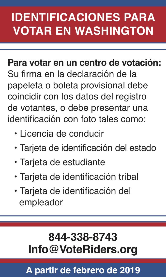 ID para votar en Washington