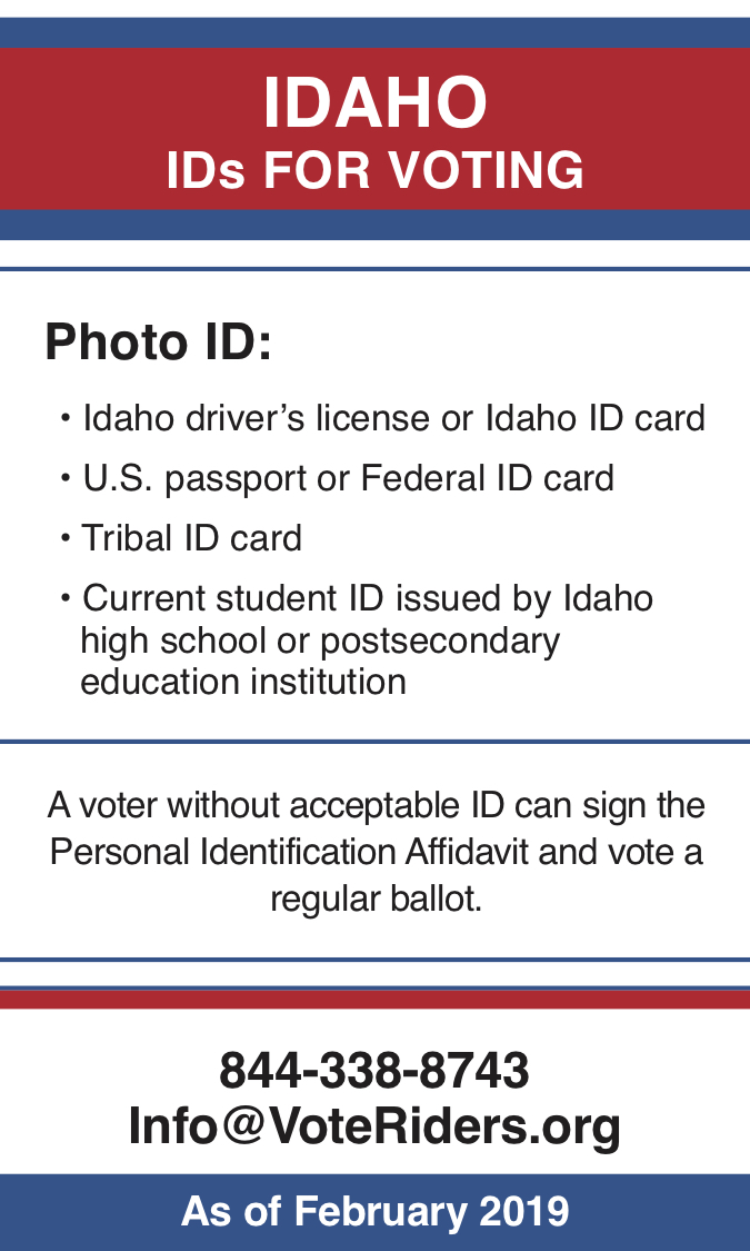 ID Voter ID Info wallet card