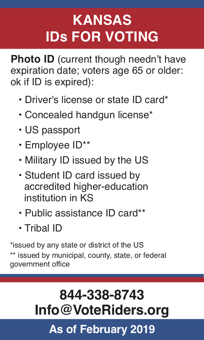KS Voter ID Info wallet card