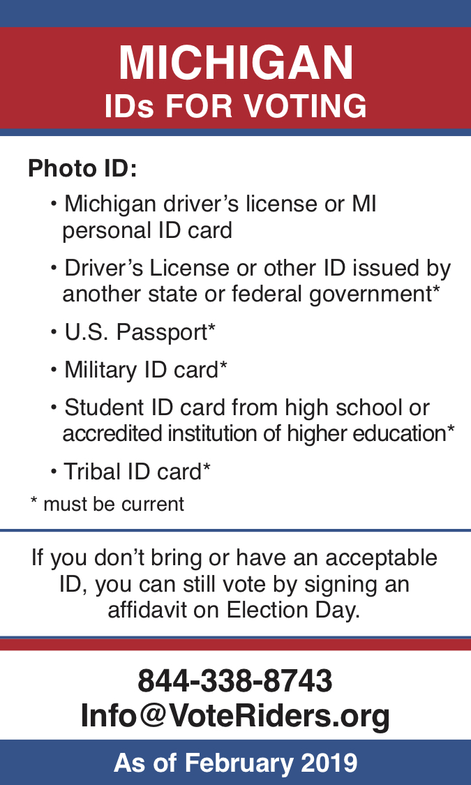 MI Voter ID Info wallet card