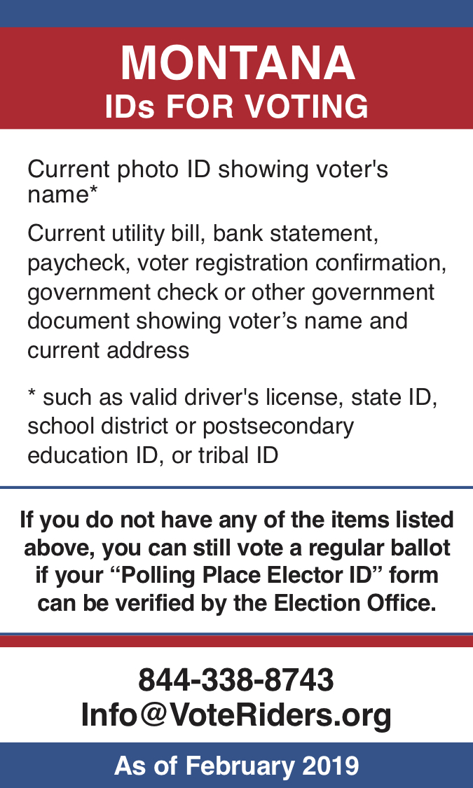 MT Voter ID Info wallet card