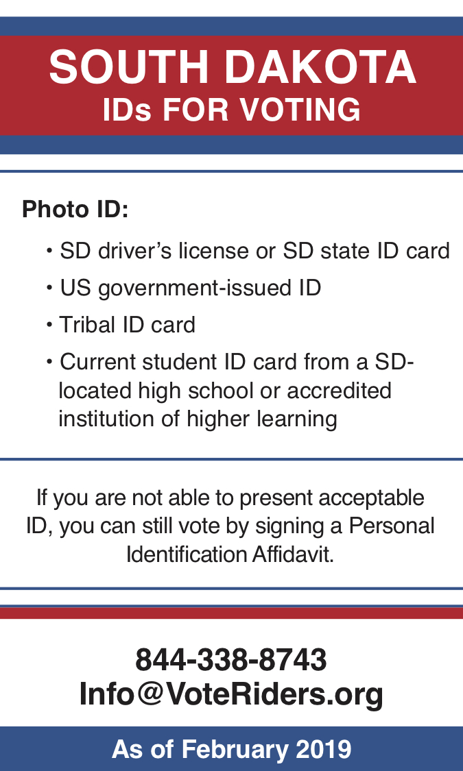 South Dakota voter ID info 2019 - image