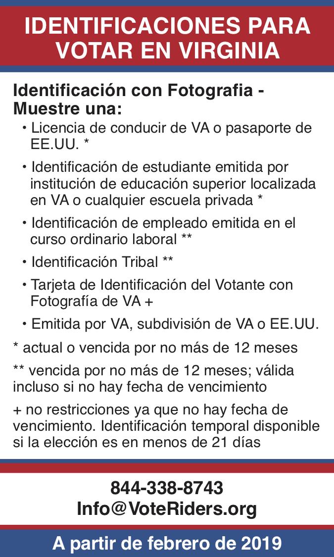 ID de votantes en Virginia