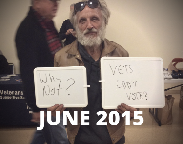 June 2015- Vets Cant Vote
