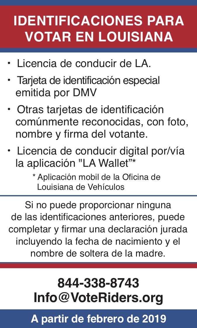 ID para votar en Louisiana