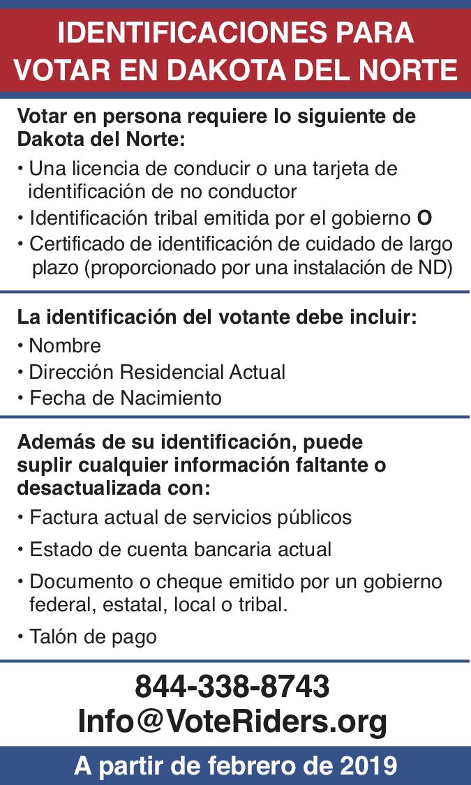ID para votar en Dakota del Norte