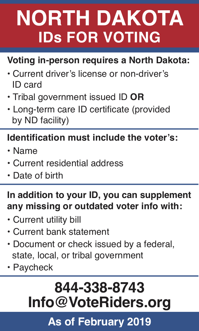 North Dakota - image - Voter ID Info Card