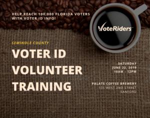 sanford voter ID training details