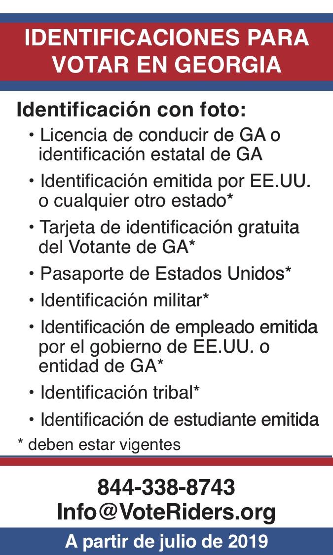 ID para votar en Georgia