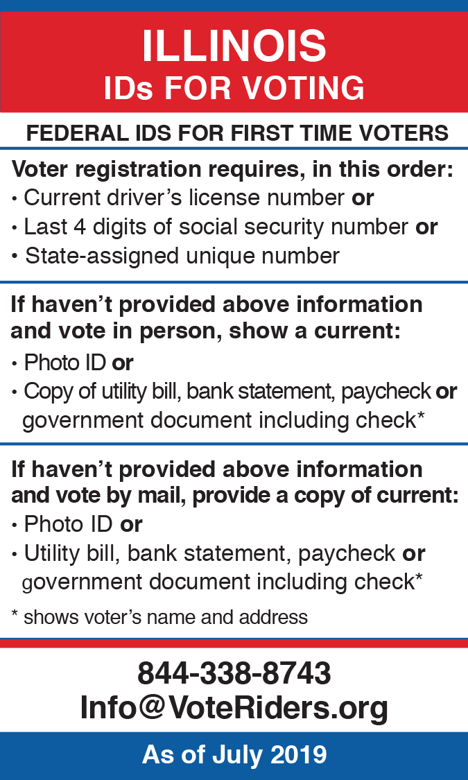 IL Voter ID Info wallet card
