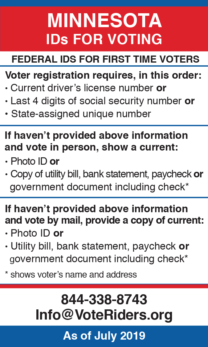 MN Voter ID Info wallet card