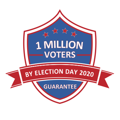 Join our campaign to guarantee the right to vote for 1 million Americans by 11/3/2020!