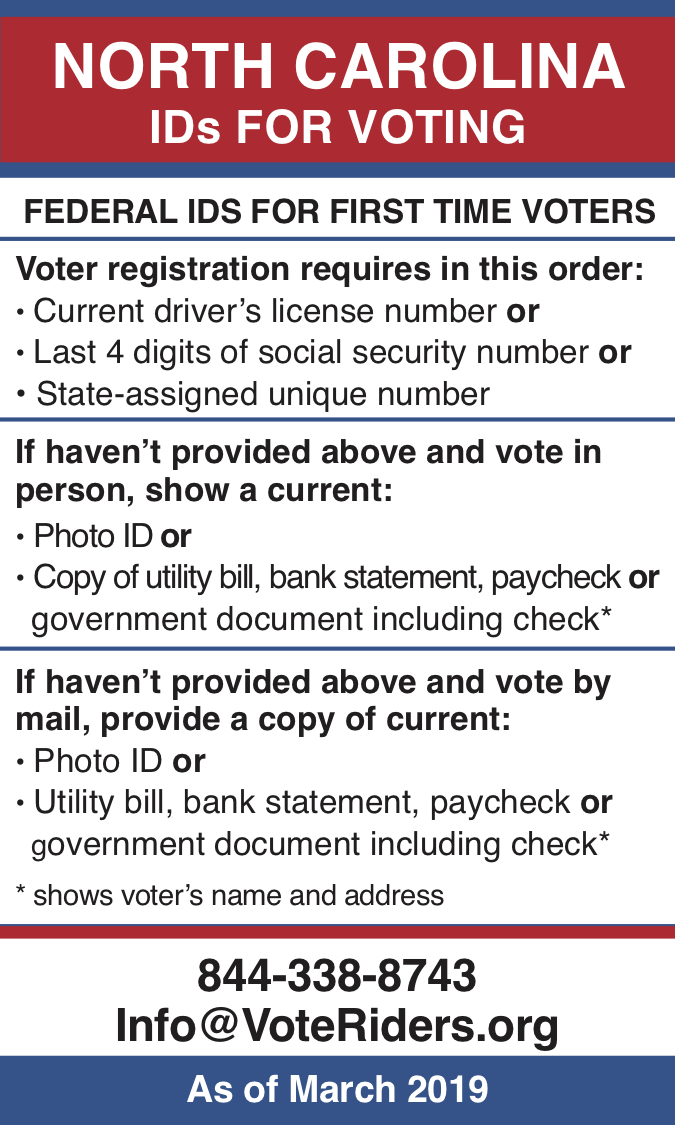 North Carolina IDs for voting