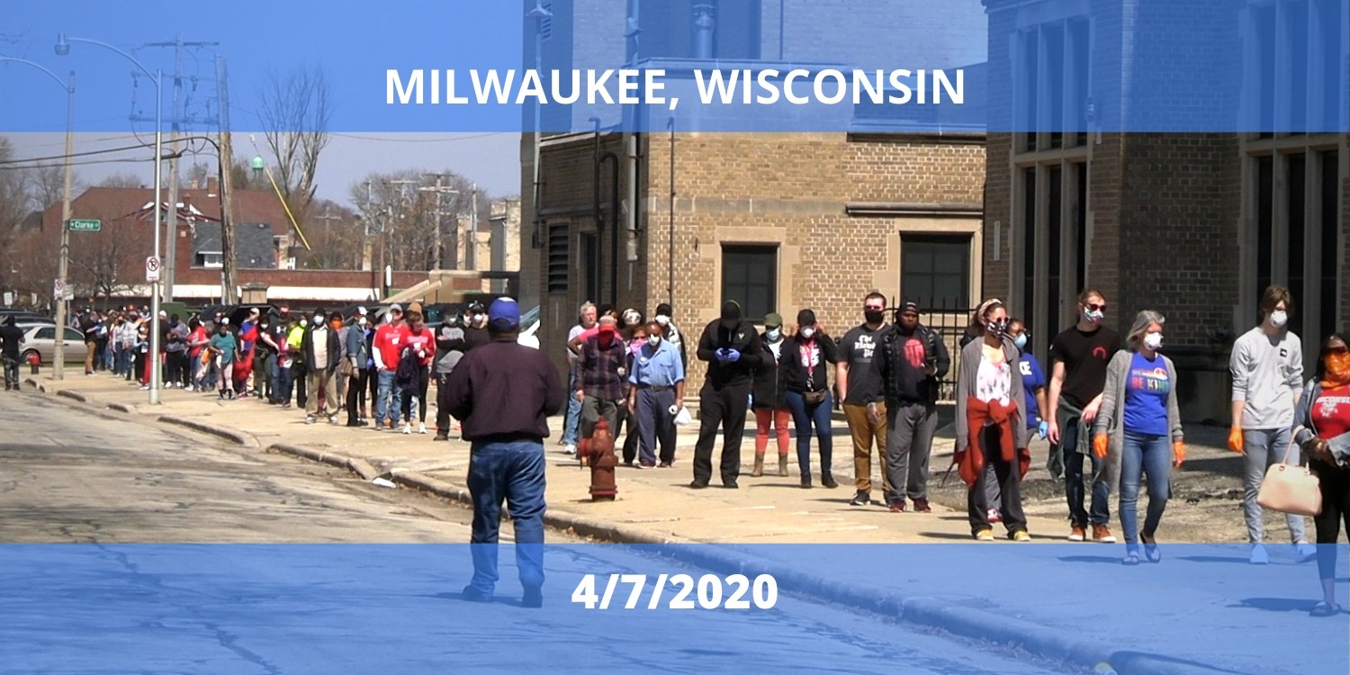 Milwaukee voters 4/7/2020.