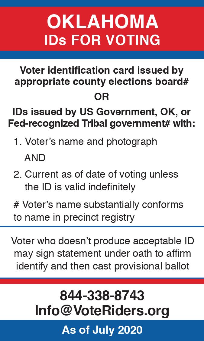 Oklahoma Voter ID Information 2020 – Image