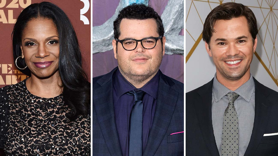 Audra McDonald (Jamie McCarthy/Getty Images); Josh Gad (Jeff Spicer/Getty Images); Andrew Rannells (Paul Archuleta/WireImage)
