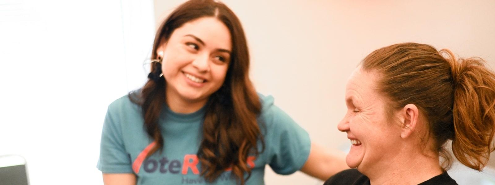image: Jazlyn helps FL voter